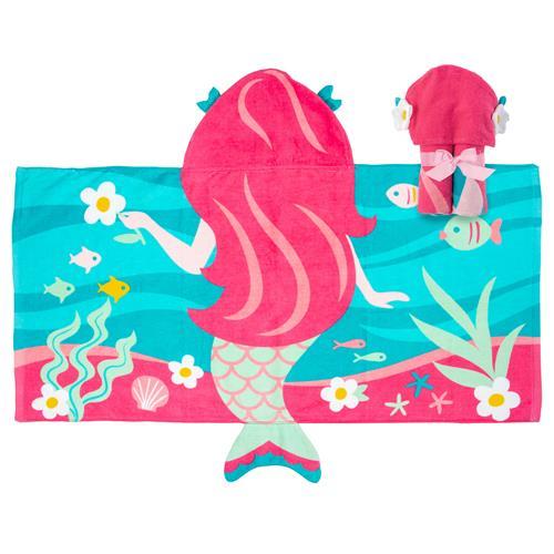 Πετσέτα με κουκούλα - Stephen Joseph - Mermaid