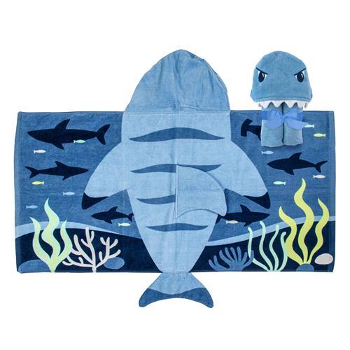 Πετσέτα με κουκούλα - Stephen Joseph - Shark
