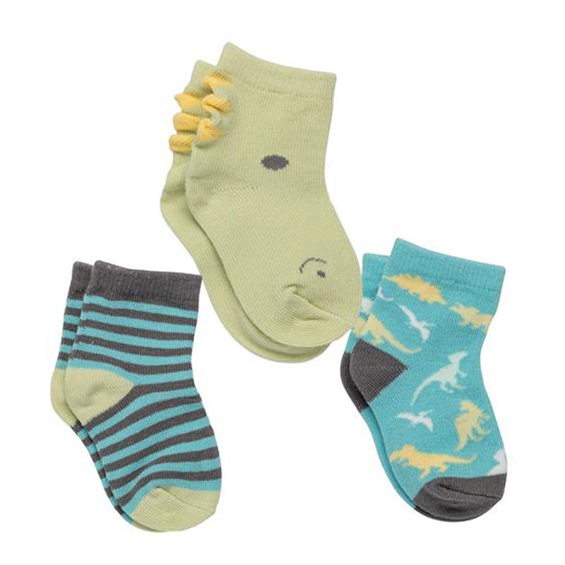 Σετ κάλτσες 3 τεμ. STEPHEN JOSEPH -δεινόσαυροι