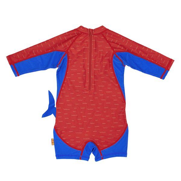 Αντηλιακό μαγιό UPF50 - Surf suit - Zoocchini - Καρχαρίας back