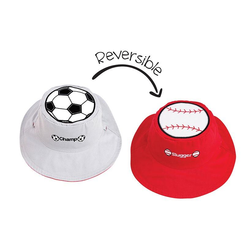 Καπέλο διπλής όψης, αντηλιακό UPF 50+, Sports - FlapJackKids
