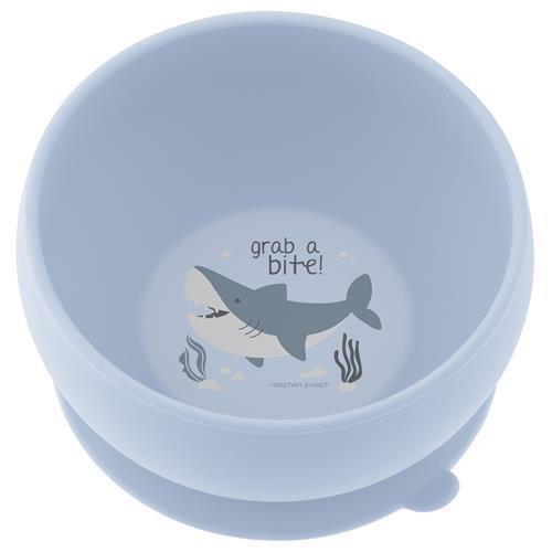 Μπολ σιλικόνης αντιολισθητικό - STEPHEN JOSEPH - καρχαρίας