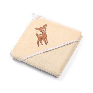 Πετσέτα βελουτέ βαμβακερή, με κουκούλα, 100Χ100εκ. – BabyOno