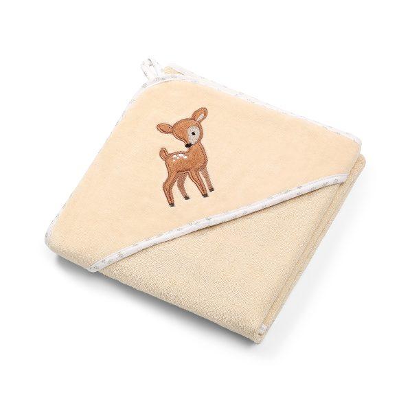 Πετσέτα βελουτέ βαμβακερή, με κουκούλα, 100Χ100εκ. - BabyOno